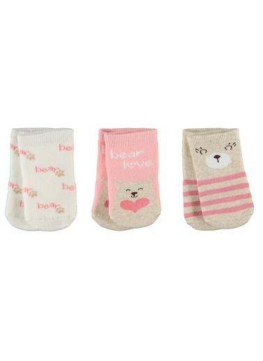 Civil Baby 3'lü Çorap Pudra